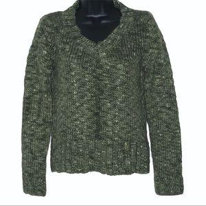 GAP v-neck chunky knit sweater   S